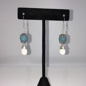 Blue Lava Stone Diffuser Earrings
